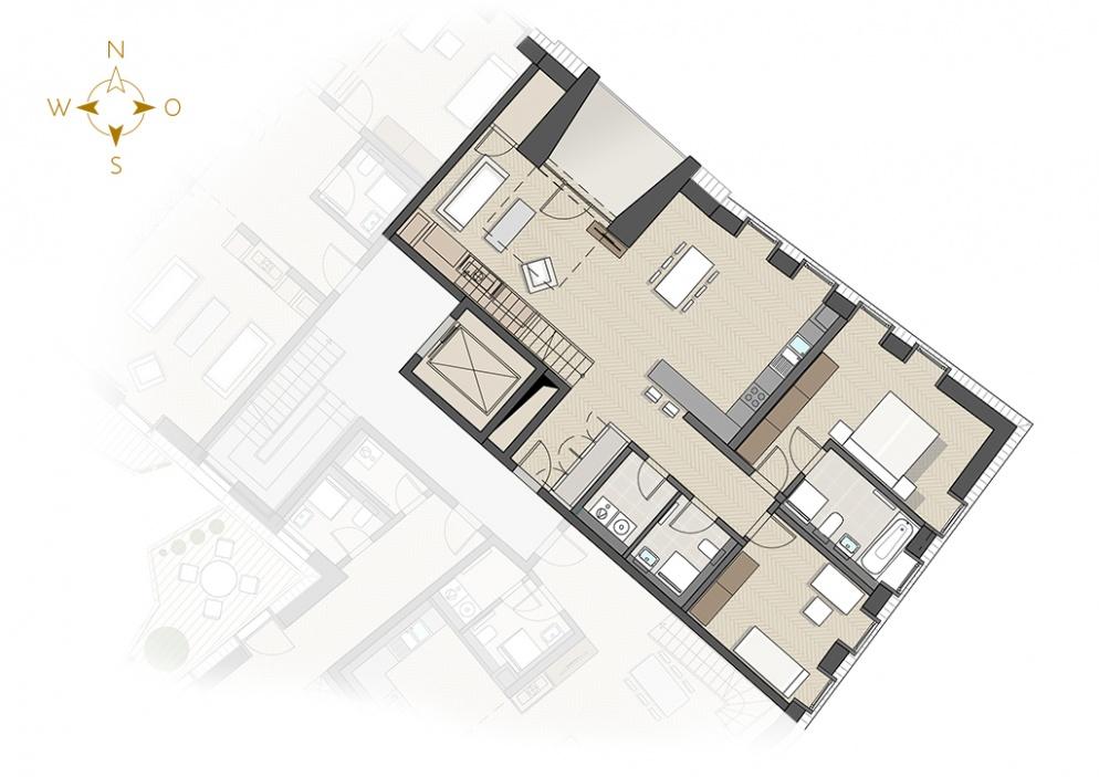 Grundriss luxuswohnung  Frieseneck am Neumarkt« - Grundrisse